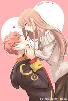 mystic messenger and luciel choi manga Seven Mystic Messenger, Mystic Messenger Fanart, Anime Love Couple, Cute Anime Couples, Anime Girls, Luciel Choi, Saeran, Chica Anime Manga, Images