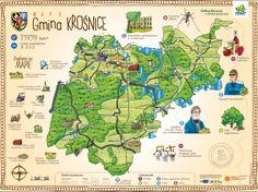 Mapa ścienna gminy Krośnice