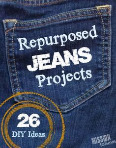 25 Repurposed Jeans DIY Projects 2019 Roundup of Repurposed Jeans Projects. Check out over 26 DIY Ideas for upcycling denim. The post 25 Repurposed Jeans DIY Projects 2019 appeared first on Denim Diy. Diy Jeans, Sewing Jeans, Jean Crafts, Denim Crafts, Upcycled Crafts, Repurposed Items, Artisanats Denim, Denim Purse, Raw Denim