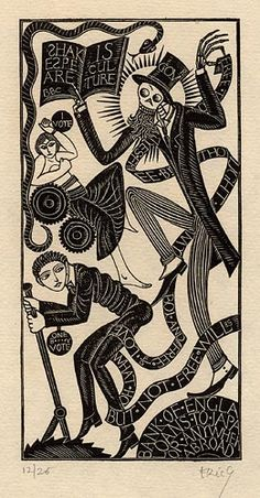 Wood Engravings by Eric Gill  The Lord's Song