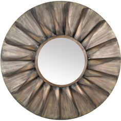 The antique brown sun wall mirror brings warmth and light to any room. The versatile gentle brown tone and delicate lines complement both rustic and contemporary decor. Let this beautiful wall mirror become the focal point of your favorite room.
