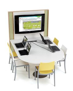 Designed to link technology and furniture effortlessly, the TechnoLink products answer the ever changing technology needs of today's library. TechnoLink Media Tables allow up to 6 users to collaborate together and the media sharing technology lets each user share their content to the big screen to be viewed by all. Each TechnoLink Media Table is…