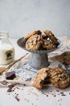Dark Chocolate Chunk Oatmeal Coconut Cookies-2