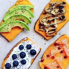 Leckere Süßkartoffel-Toast-Variationen