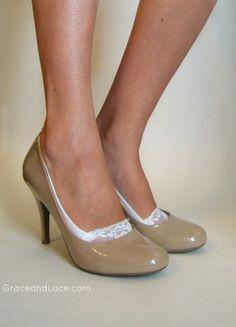 Lace Peep Socks  ivory  lacey sock  lace socks by GraceandLaceCo