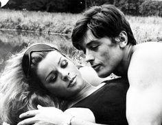 Con Senta Berger nel 1968 (Lapresse)