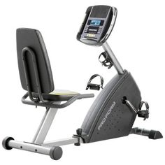 A recumbent exercise bike doesn't have to cost a fortune or take up half the room - try the ProForm 385 CSX Recumbent Bike for a solution that works out. This compact bike boasts a bevy of professional features like an LCD display iPod