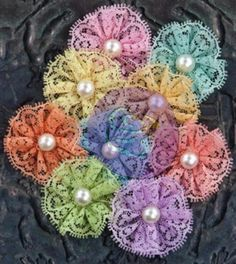Prima Flowers: Allure Jewel Mix fabric flowers by Hennytj Cloth Flowers, Paper Flowers Diy, Lace Flowers, Handmade Flowers, Felt Flowers, Fabric Flowers, Wedding Flowers, Ribbon Crafts, Flower Crafts