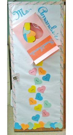 27 Creative Classroom Door Decorations for Valentine's Day – onecreativemomm… – Valentinstag Classroom Board, Classroom Crafts, Bulletin Boards, Classroom Ideas, Valentines Day Decorations, Valentine Crafts, Valentines Day Decor Classroom, Teacher Doors, School Doors