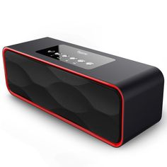 Dynamic Sound Mp3 Format Black Zinc Alloy Case Bluetooth 4.0 Wireless Speaker