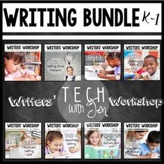 This Year-Long Writer's Workshop Bundle for kindergarten, first & second grade students is perfect for those who need ideas, resources & lessons to teach a writer's workshop model in the elementary classroom. Teach writing all across the genres with this engaging, all-inclusive resource to use with or without technology. This low prep bundle can be used year after year to teach emergent writers how to write for a variety of audiences & purposes. {K, 1st, 2nd grade, homeschool, ba