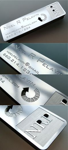 Stainless Steel Business Card- www.BlickeDeeler.de | Follow us on www.facebook.com/Blickedeeler
