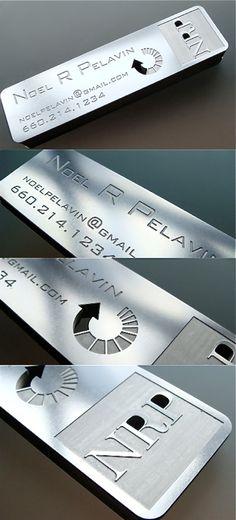 Stainless Steel Business Card- www.BlickeDeeler.de   Follow us on www.facebook.com/Blickedeeler