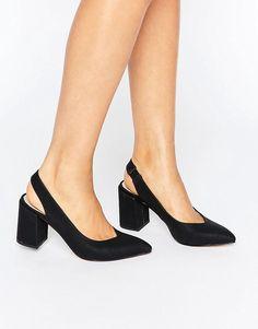 836e78ead62 London Rebel Slingback Mid Heel Shoes at asos.com