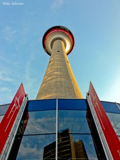 Calgary tower, Calgary, Alberta, It was called Husky Tower when I visited. The Places Youll Go, Places To See, Alberta Travel, Canada Eh, Canadian Rockies, Banff National Park, Alberta Canada, Canada Travel, British Columbia