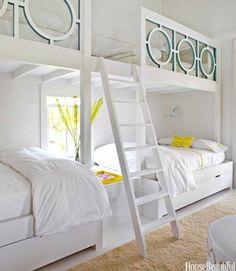 Love the built-in bunk beds and the railing design - Tween/Teen Bunk Beds & Built-Ins