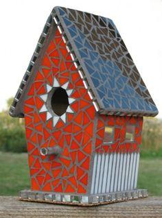 mosaic birdhouses - Google Search