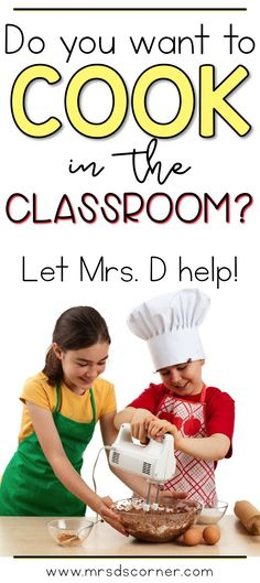 "Cooking in the Classroom with Mrs. D's Corner. Video post with a sneak peak at my classroom ""kitchen"", how I make it work in my special education classroom, how and when we cook in the classroom with delicious no bake recipes, and other food related fun stuff your students are sure to love too! Only at Mrs. D's Corner."