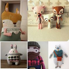 I love this girl's DIY Stuffed Animals