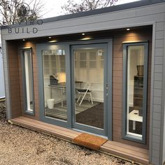 Work from home in style in this spacious garden room. Composite Cladding, Composite Decking, Garden Office, Home Office, Builders Merchants, Sustainable Building Materials, Home Pub, Floors And More, Tilt