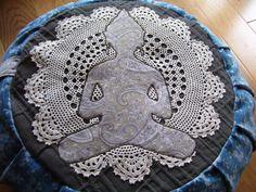 buddha applique meditation cushion / zafu
