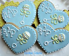 Baby Rattle Decorated Sugar Cookies Baby Shower
