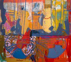 Selina Saranova, on the beach, 160x180cm. acrylic on canvas