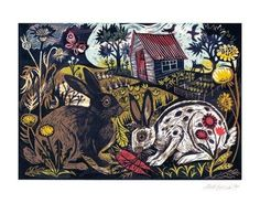 'Salad Days' - Mark Hearld (Linocut)