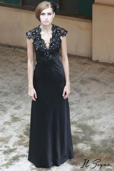 Rochie de seara neagra     http://ilsegno.ro/product-page/rochii-de-seara/rochii-de-seara-a-line/rochie-de-seara-sa90330/