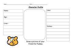 character profile - a friend for pudsey bear.doc