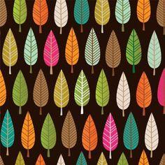 Midsummer autumn days. #pattern #inspiration #retro #vintage #autumn #trendy #design #graphic #tree #trees #forrest