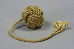 A decorative monkey's fist is a type of knot that is tied at the end of a rope…