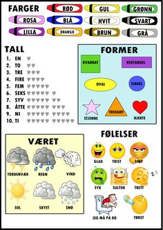 Ida_Madeleine_Heen_Aaland uploaded this image to 'Ida Madeleine Heen Aaland/Plakater og oppslag'. See the album on Photobucket. Norway Language, Norwegian Words, Learning Languages Tips, Swedish Language, Baby Barn, Craft Activities For Kids, Kids Education, Kids Learning, Professor