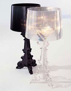Kartell Bourgie by Ferruccio Laviani...I have 2 of the black ones...and 3 tall floor lamps