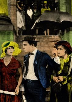 Anne Cornwall, Buster Keaton and Florence Turner in poster art for College, 1927.