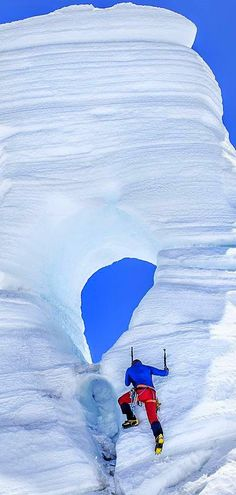 Amazing shot climbing at the Tasman Glacier in Aoraki Mount Cook National Park, South Island, New Zealand