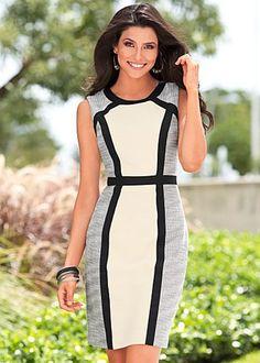 Black Multi Color Block Dress