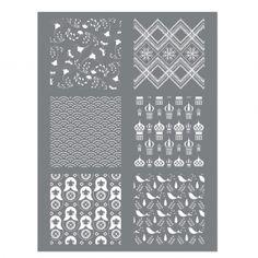 Silk Screen Graine Creative pour Pâte polymère 114x153mm - Motif Russie