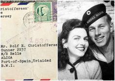4 Μαϊου 1945.Η Βιρτζίνια γράφει ένα γράμμα αγάπης στον σύζυγό της Ρολφ Κριστόφερσεν, που υπηρετούσε Περισσότερα