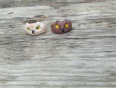 Owl ring polymer clay ajustable ring por Seasonoftheflowers en Etsy