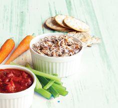 Creamy tuna dip Healthy Tuna Recipes, Tuna Dip, Light Snacks, A Food, Food Processor Recipes, Dips, Appetizers, Vegetarian, Nutrition