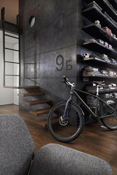 Industrial Attic Apartment by Dimitar Karanikolov, Sofia, Bulgaria.   DesignRulz.com