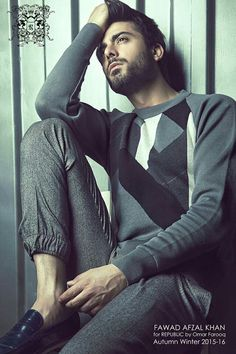 Fawad Khan for Republic by Omar Farooq Male Models With Beards, Indian Male Model, Actors Male, Photography Poses For Men, Male Poses, Bollywood Actors, Good Looking Men, Handsome Boys, Boy Fashion