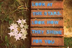 look at the stars.