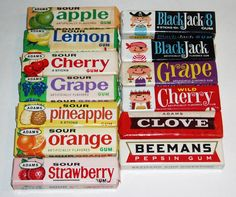 Adams chewing gum. Their flavors were great and lasted a long time.