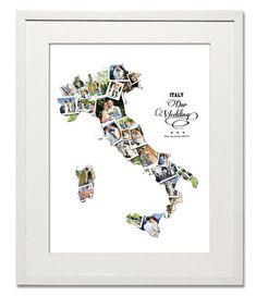Italy Wedding, Honeymoon & Anniversary Collage
