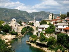 Stari Most in Mostar, Bosnia and Herzegovina. I had the pleasure of living here for a bit when I was 19. Need to go back. Haunting city, amazing people.