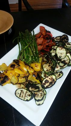 Grilled Vegetables with Aged Balsamic Oregano Garlic and Olive Oil. (Double Click For Recipe)