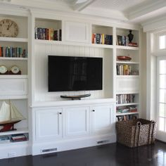 Media center and bookcase