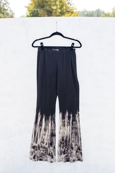 Tie dyed cotton/span bell bottom pants with elastic waist.Each item is hand-dyed for its unique character and american vintage laundered look,should expect vari Hippie Chic, Selling Online, Bell Bottoms, Bleach, How To Wear, Pants, Fashion, Trouser Pants, Moda
